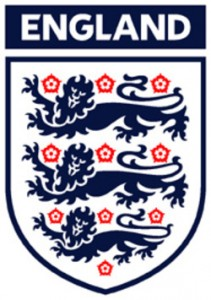 The national football team badge of England